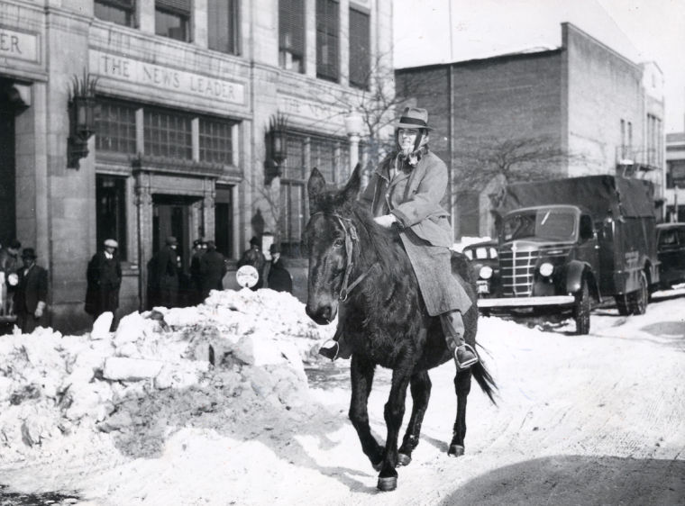 Richmond News Leader snowfall, 1940