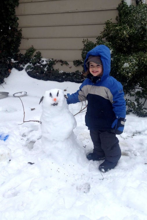 Your snow photos: Mr. Snowman