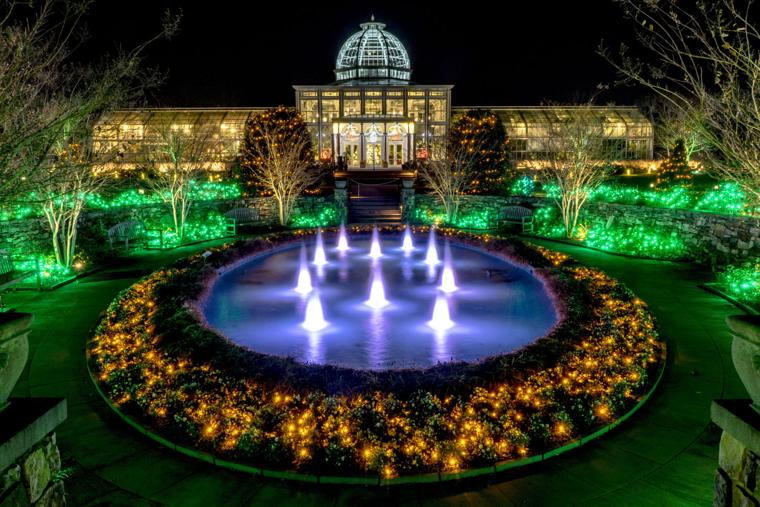Gardenfest of lights at lewis ginter richmond times dispatch entertainment news for richmond va for Lewis ginter botanical gardens christmas