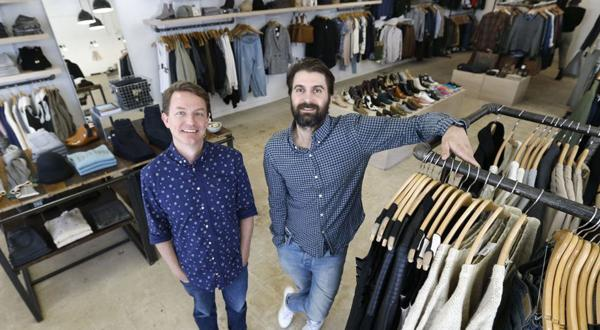 <p>(L-R) Chris Bossola and Gabriel Ricioppo own Need Supply Co. in Carytown. Photos taken Wednesday, November 6, 2013.</p>