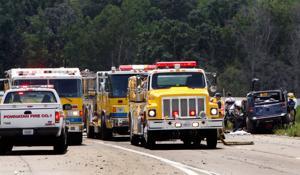Tractor-trailer crash on i_288