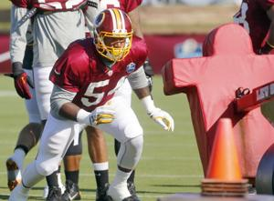 JMU's Jordan trying to be all business with Redskins