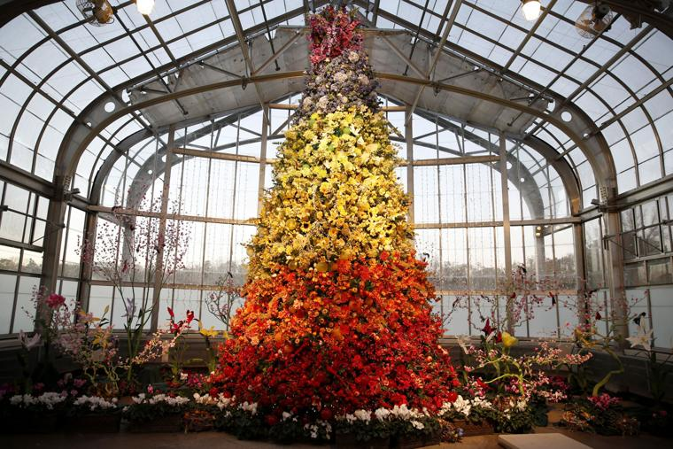 Photos gardenfest of lights at lewis ginter 2016 richmond times dispatch entertainment news for Lewis ginter botanical gardens christmas