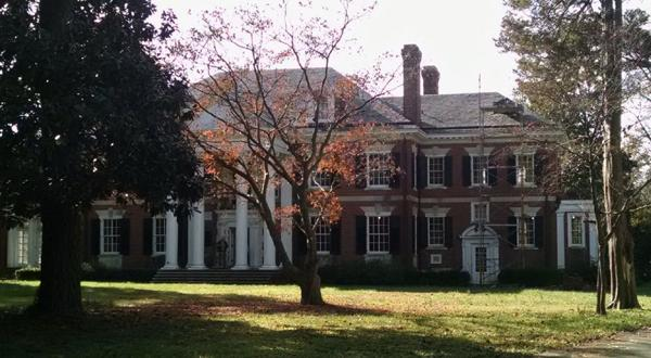 <p>Work is being conducted on a house at 330 Oak Lane in Richmond's West End, which was once the home of imprisoned developer Justin G. French. The 8,680-square-foot house, on and off the auction block since 2010, sold at the end of July for $1.5 million.</p>