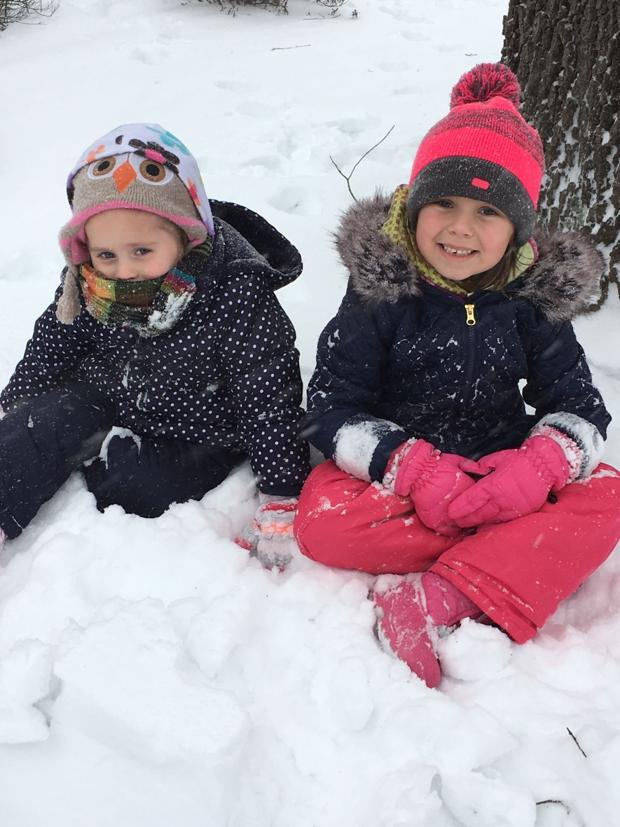 Reynolds' family enjoying the snow in North Chesterfield!!