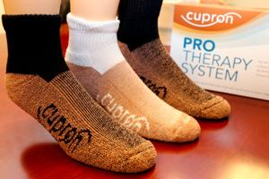 Super socks cupron introduces new weapons in war on microbes