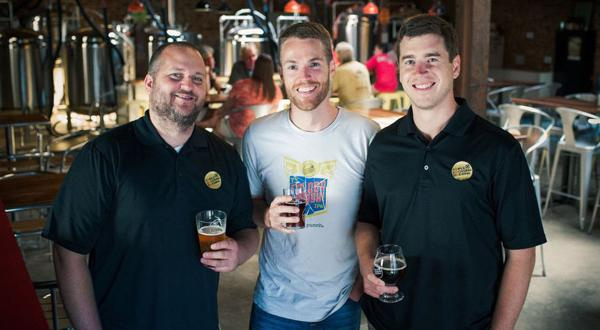 <p>Fom left to right: Jeremy Wirtes (Brewer, Co-Owner), Adam Worcester (Co-Owner), Scott Jones (Co-Owner)</p>