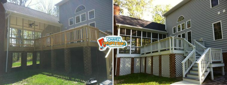 Chavez Painting Deck Before and After