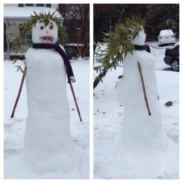 Your snow photos: snow woman