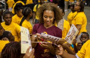 250 girls get a taste of professional cheerleading