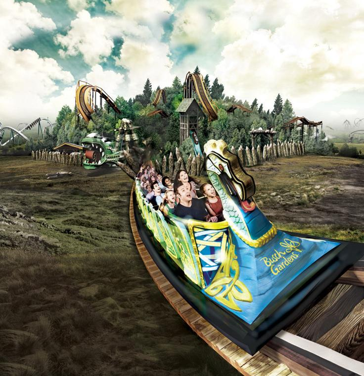 First Wooden Roller Coaster Invadr Debuts At Busch Gardens This Spring Richmond Times Dispatch