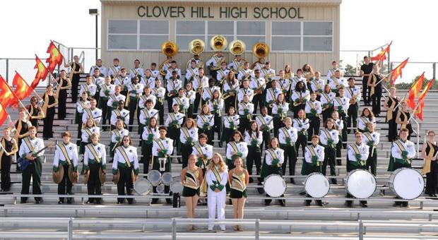 <p>Clover Hill High School marching band</p>