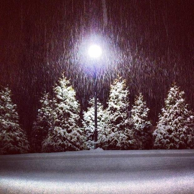 Snow falling in Goochland