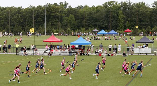 <p>Lacrosse games are played during the IWLCA Capital Cup at River City Sportsplex in Midlothian VA Sat. July 19, 2014.</p>