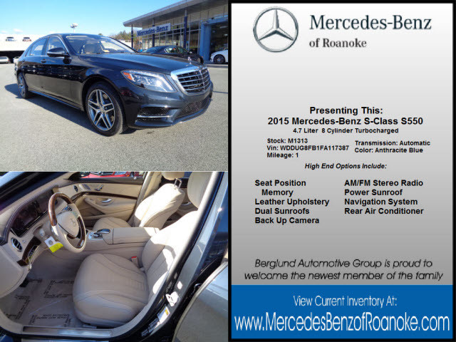 2015 anthracite blue mercedes benz s class roanoke times for Shelor motor mile hours