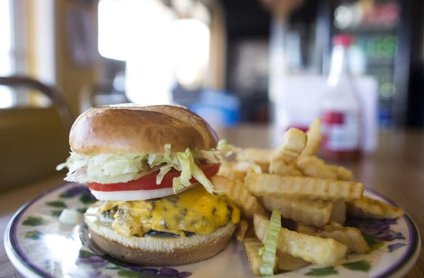 Roanoke Furniture Stores cheeseburger at the Hot Dog Hut - Roanoke Times: Photo