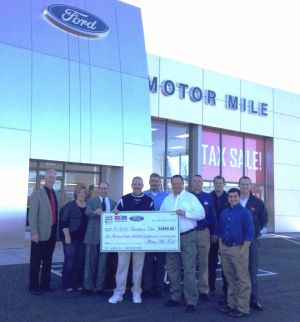 Motor mile ford presents drive 4 ur school check to chs for Shelor motor mile parts