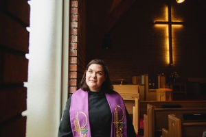 Young female pastor inspires a renewal of faith
