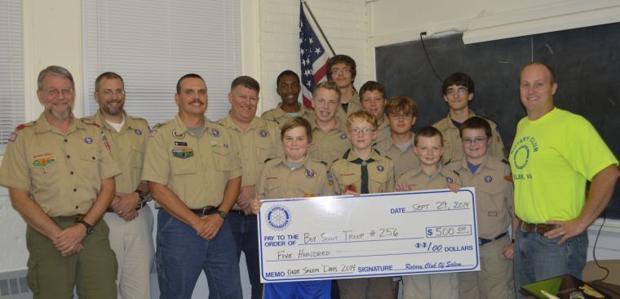 Salem Boy Scout Troop helps with Rotary Club - Roanoke Times: So Salem