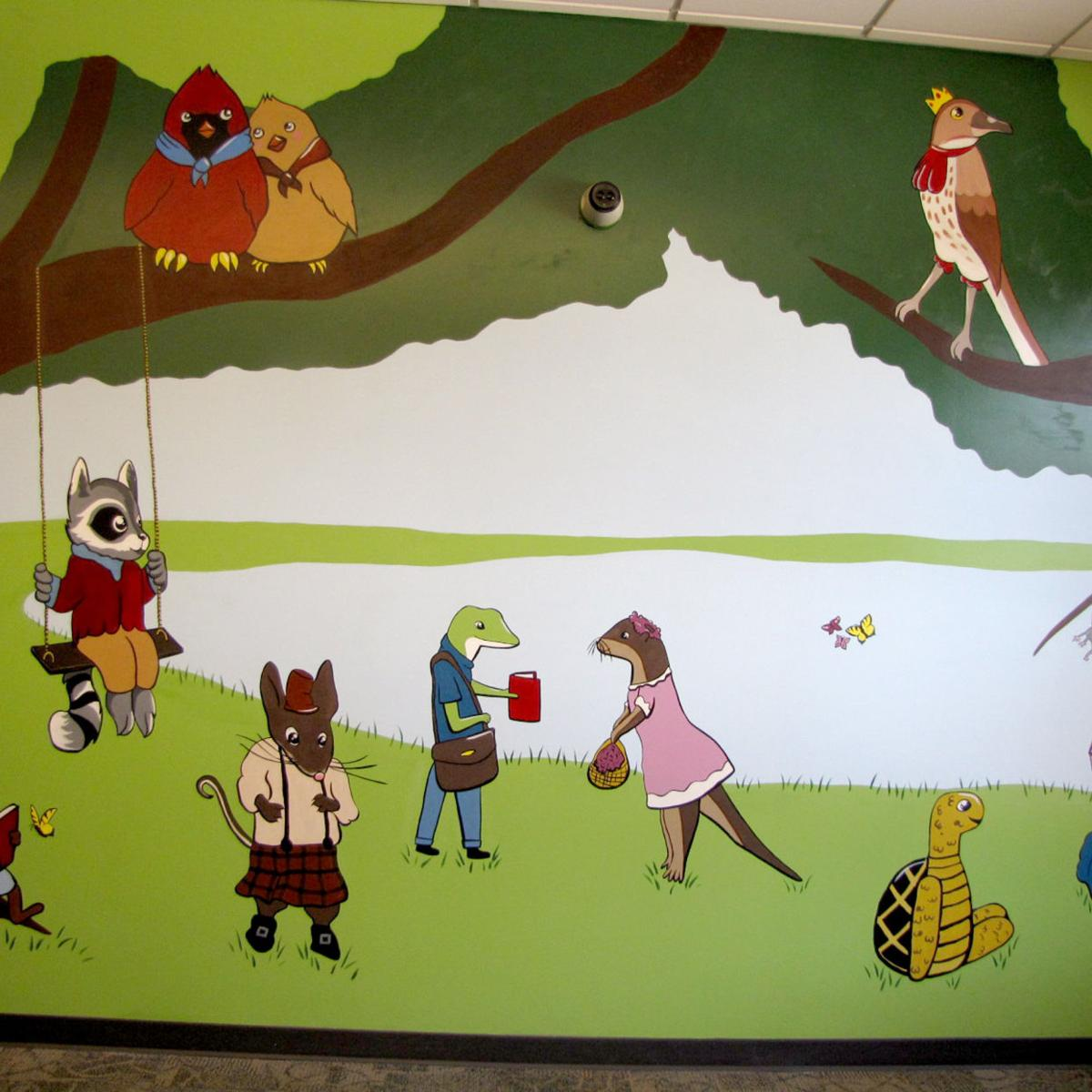 Library mural unveiling