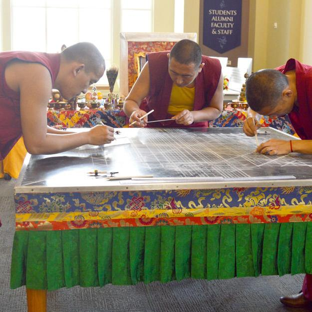 Monks share Tibetan art at Oxford College
