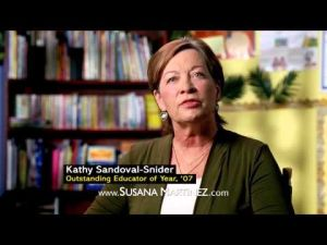 <p>There's a new campaign ad up for Gov. Martinez and it doesn't even accuse Democrat Gary King of hating education.</p><p>No, it's a positive ad. It features a lady named <a href=