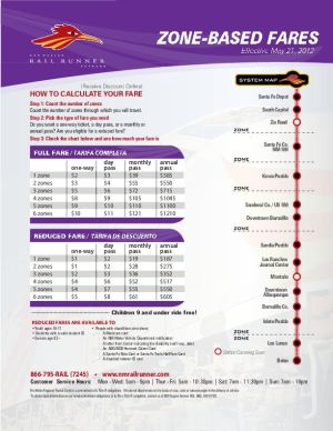 Zone-based fares