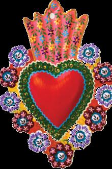 Maya, Peruvian hand-painted hearts