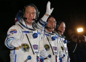 Space station arrival delayed for U.S.-Russian crew