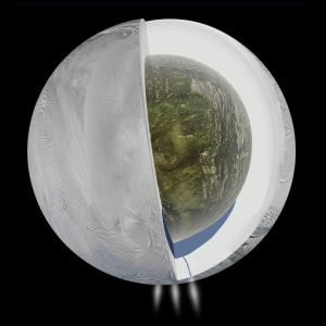 NASA Cassini spacecraft finds sign of subsurface sea on Saturn's moon Enceladus