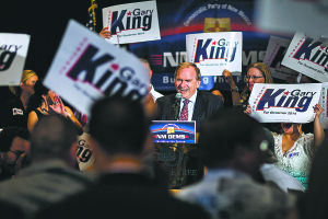 King wins Democratic nomination
