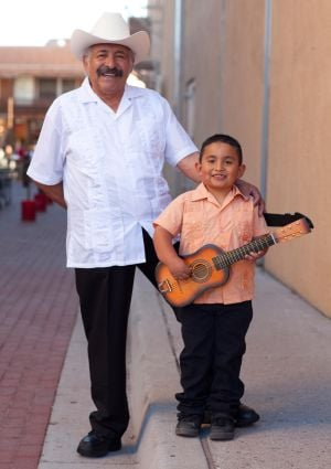 Cipriano Vigil and his grandson