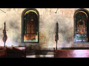 Restoration of former church in Lamy, N M