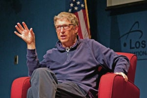 Bill Gates talks health, education in LANL visit