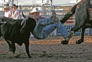 Steer wrestling not for the faint of heart or limb