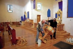 Northern New Mexico artists collaborate on new baptismal font for Abiquiú church