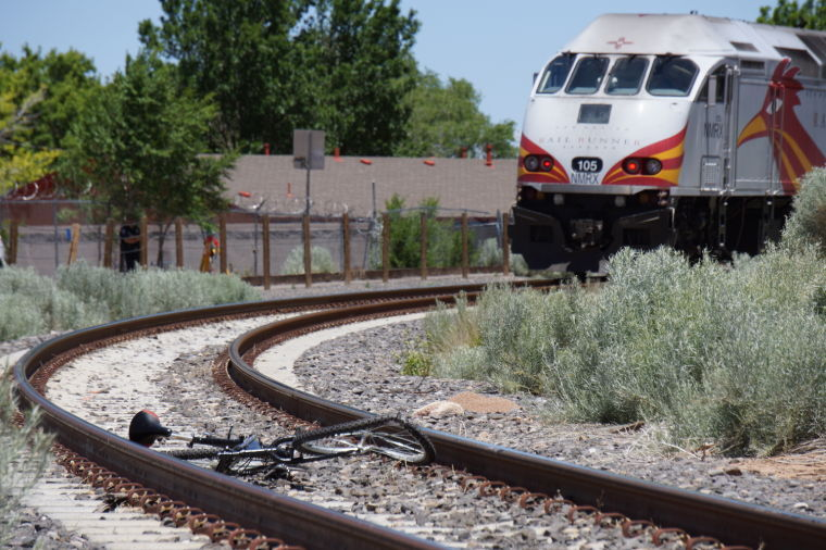Bicycle in front of RailRunner