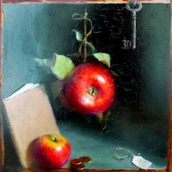 <p>Tricia Cherrington-Ratliff:<em>Reflections on Knowledge</em>, 2014, oil on panel</p>