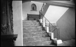 Interior staircase in La Fonda