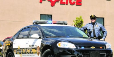 <p>Santa Fe police plan to switch back to a four-day workweek next month. Clyde Mueller/The New Mexican</p>