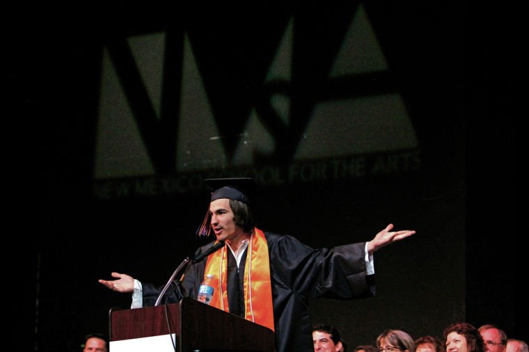 MacLaine tells NMSA grads: Live life as if it's showbiz