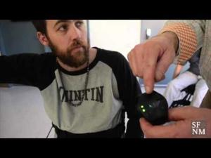Xavier Horan tries the ReWalk Robotics exoskeleton