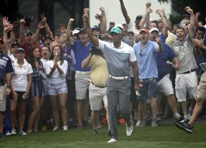 Woods opens Wyndham with his best round in 2 years