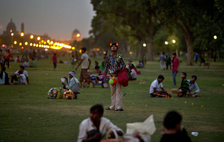 Finding summer solace in New Delhi park