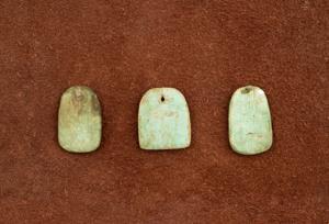 malachite painted wood pendants