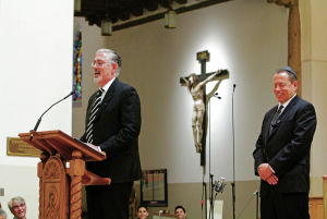 Hundreds honor Rabbi Leonard A. Helman at Cathedral Basilica of St. Francis of Assisi
