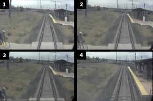 Video stills from fatal train collision