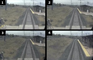 Video stills from fatal train collision