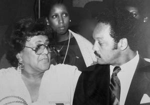 Ethel Payne with Jesse Jackson