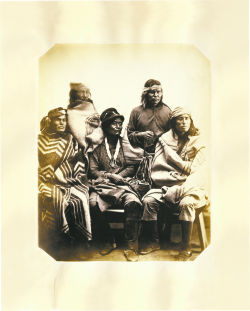 <p>Navajo men, Fort Sumner, New Mexico, 1866</p>